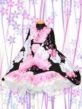 Bサイズ:浴衣ドレスセット(コスモスと薔薇)