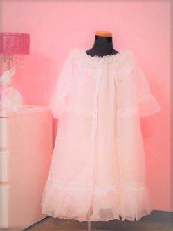 画像1:  <ホワイト>フリフリ★キッズ姫系ネグリジェL