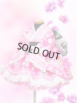 画像1: <Aサイズ>着物ドレスセット:苺の夢(ピンク)