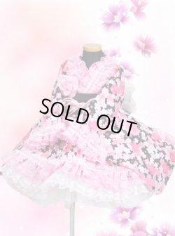 画像1: <Bサイズ>着物ドレスセット:桜の滝