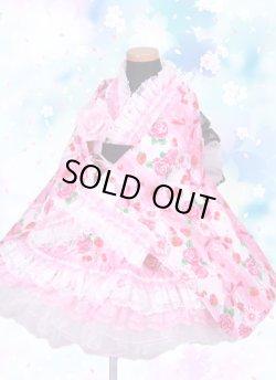 画像1: <Aサイズ>着物ドレスセット:プリティーハート<ピンク>