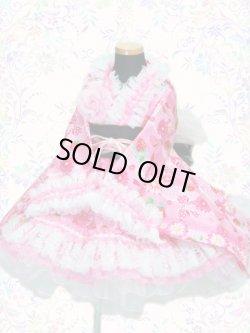 画像1: <Bサイズ>着物ドレスセット:苺の夢<ピンク>