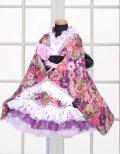 <Bサイズ>特選着物ドレスセット:毬の乱(紫)